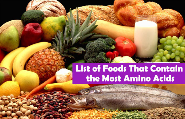 Foods with amino acids