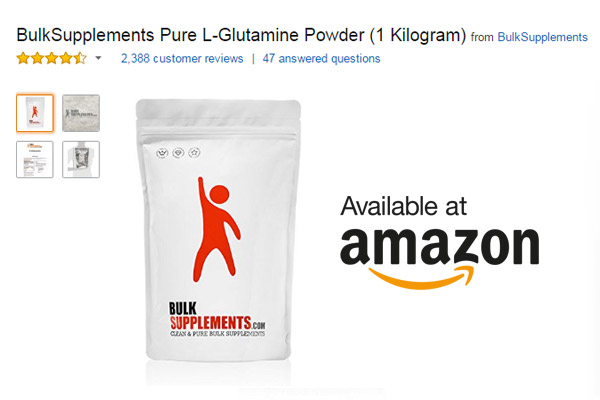 BulkSupplements Pure L-Glutamine Powder